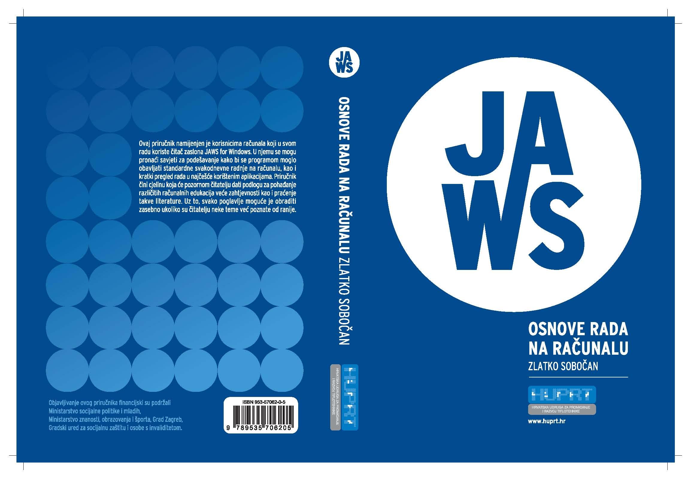 Naslovnica 'JAWS - osnove rada na računalu'