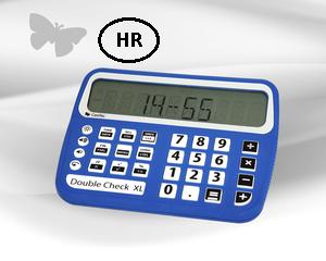 Slika kalkulatora DoubleCheck XL s govorom