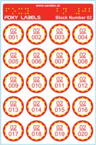 Slika FOXY naljepnica (240 naljepnica u paketu)