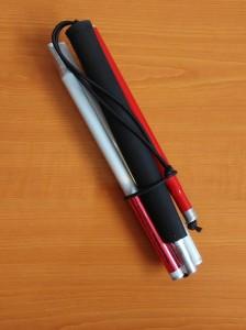 Slika Orijentacijski štap američki aluminijski s 5 sekcija (sklopljen)