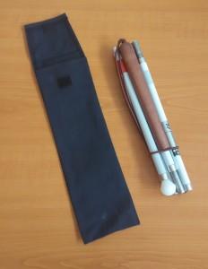 Slika Orijentacijski štap karbonski s 5 sekcija (sklopljen) i torbica