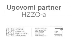 Naljepnica Ugovorni partner HZZO