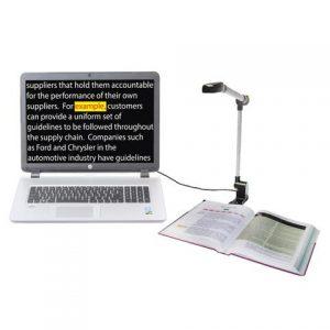 Slika prozora programa OpenBook prikazuje sadržaj knjige koji je poskenirala kamera PERL
