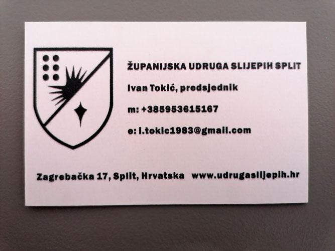 Slika vizitke s logotipom na latinici